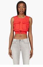 ALEXANDER MCQUEEN Red Belted Crop Top for women
