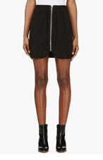 ACNE STUDIOS Black Suede Mina Mini Skirt for women