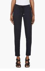 MONCLER Navy Grosgrain-trimmed Lounge Pants for women