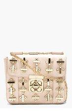 CHLOE Rose Leather Embellished Elsie Shoulder Bag for women