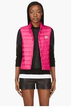 MONCLER Fuchsia Quilted Down Liane Vest for women