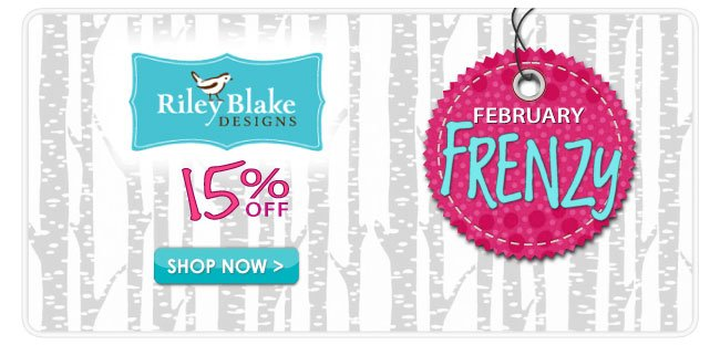 15% off during our February Frenzy Sale
