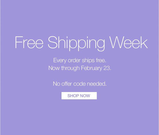 Free Shipping Week