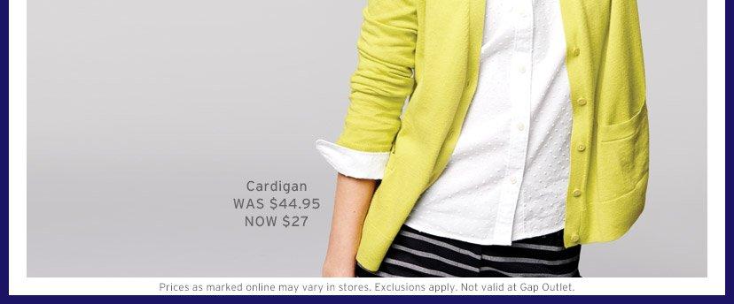 Cardigan WAS $44.95 NOW $27