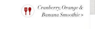Cranberry, Orange & Banana Smoothie
