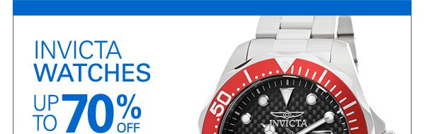 INVICTA WATCHES - UP TO 70% OFF