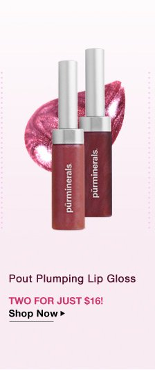 2 Pout Plumping Lip Gloss for Just $16
