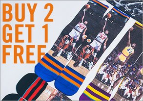 Shop Buy 2 Get 1 Free: NBA Socks & More