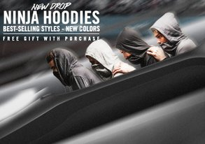 Shop NEW Ninja Hoodies are HERE