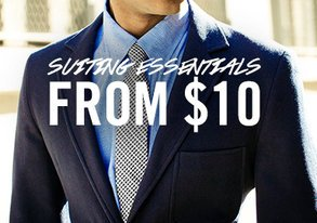Shop Suave Suiting Essentials from $10