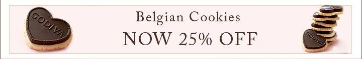 Belgian Cookies NOW 25% OFF