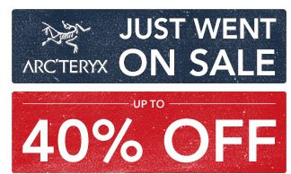 Arcteryx just went on sale