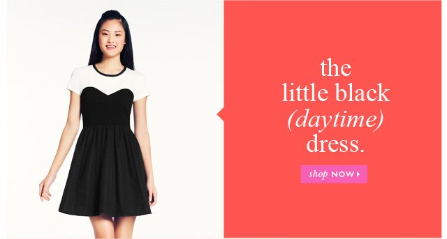 the little black daytime dress.