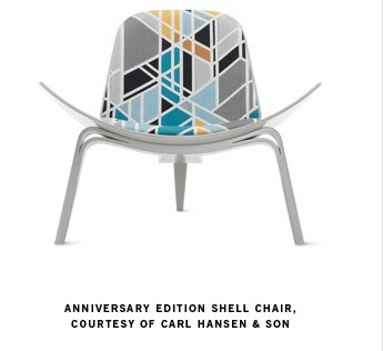 ANNIVERSARY EDITION SHELL CHAIR, COURTESY OF CARL HANSEN & SON