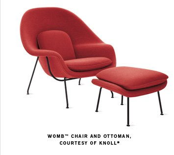 WOMB™ CHAIR AND OTTOMAN, COURTESY OF KNOLL®