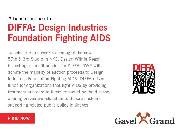 A benefit auction for DIFFA: Design Industries Foundation Fighting AIDS