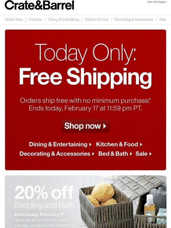 Restoration hardware shipping coupon code