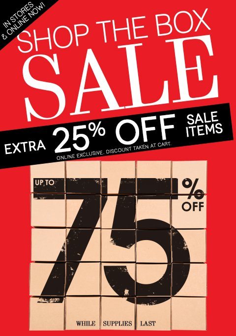 FINAL HOURS! Take an EXTRA 25% OFF all clearance styles + Free Shipping on any $25 order!
