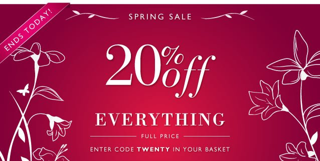 Spring Preview Sale: 20% Off Everything