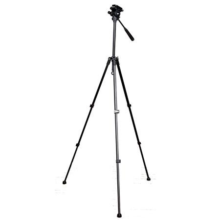 "Adorama - Dolica 57"" Aluminum Tripod with Video Pan Head"