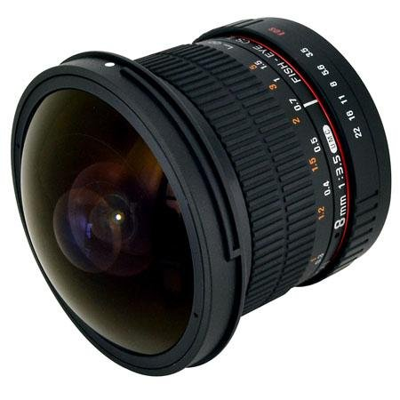 Adorama - Rokinon 8mm f/3.5 HD Fisheye Lens with Removable Hood for Canon EF