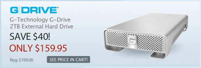 Adorama - G-Technology G-Drive 4th Generation, 2TB External Hard Drive Storage Solution, with 3Gbit eSATA , FireWire 800, FireWire 400, & USB 2.0, Interface, for Mac & Windows.