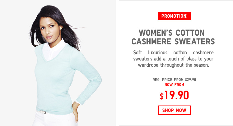 WOMEN'S COTTON CASHMERE SWEATERS
