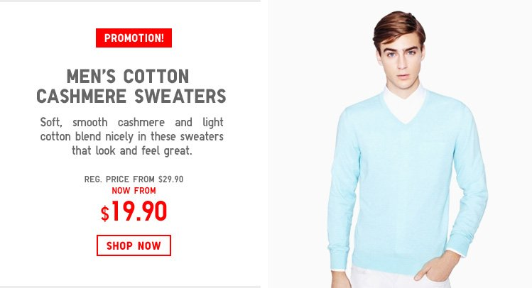 MEN'S COTTON CASHMERE SWEATERS