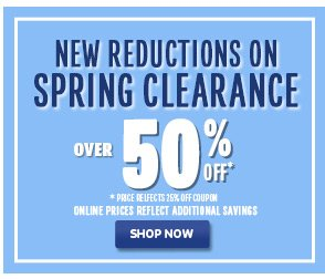 Spring Clearance Over 50% Off!