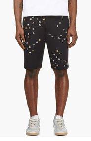 3.1 PHILLIP LIM Navy Neoprene Hardware Shorts for men
