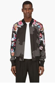 3.1 PHILLIP LIM Black Eembroidered New Wave Bomber Jacket for men