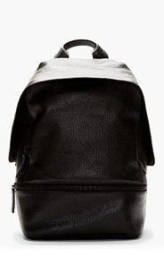 3.1 PHILLIP LIM Black Grained Leather 31 Hour Backpack for men