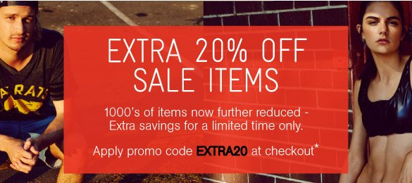 Take An Extra 20% Off Outlet Items* - Shop Now