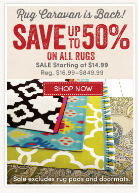 Save up to 50% during Rug Caravan