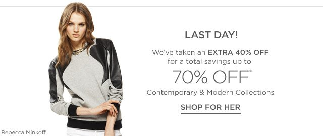 Up to 70% off Contemporary & Modern