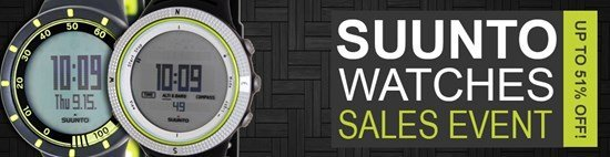Save up to 51% during the Suunto Watches sales event