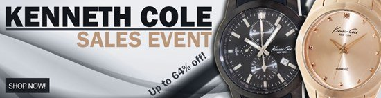 Save up to 64% during the Kenneth Cole Watches sales event