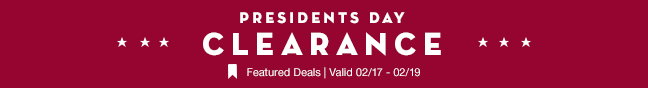 Presidents Day Clearance