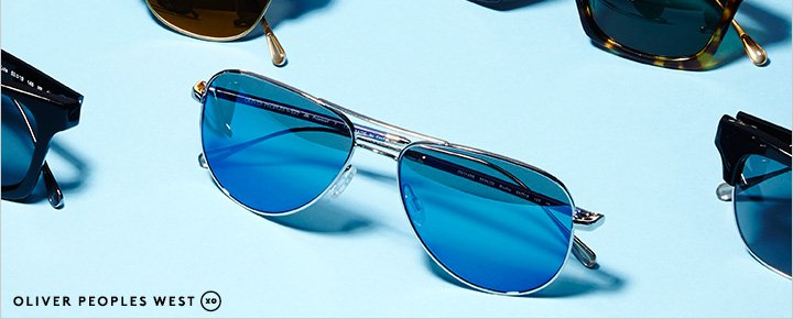 Exclusively Ours! Pre-order Oliver Peoples West sunglasses now.