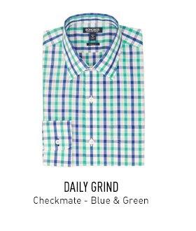 Green & Blue Check Shirt