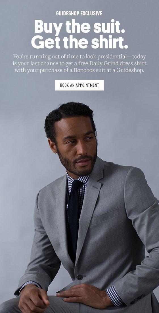 Buy a Suit get a Dress Shirt