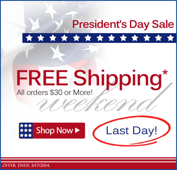 Free Shipping* Weekend! All orders $30 or More. Ends Today 2/17/2014 at Midnight, from AmeriMark! - Shop Now >>