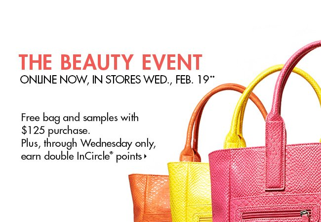Beauty Event: Bag + Bonus Points!