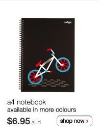 a4 notebook - available in more colours - $6.95aud - shop now >
