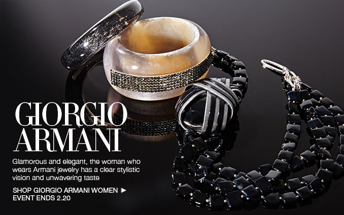 Shop Giorgio Armani Jewelry - Ladies.