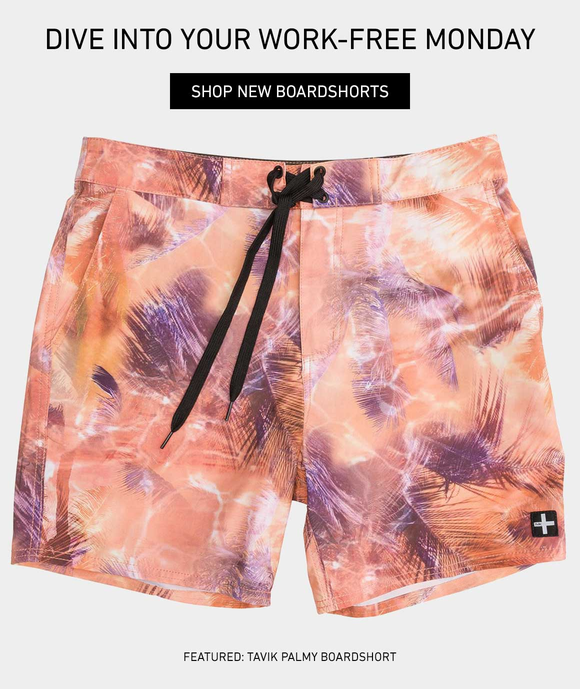 Dive Into Your Work Free Monday: Shop New Boardshorts