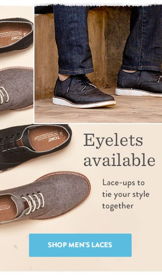 Eyelets available - Shop Men's Laces