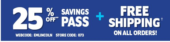25% Off Savings Pass