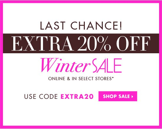 EXTRA 20% OFF WINTER SALE