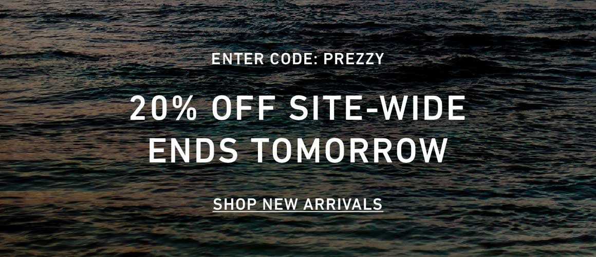 20% Off Site-Wide. Enter Code: PREZZY